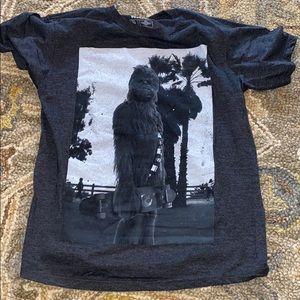 Chewbacca with skateboard T-shirt